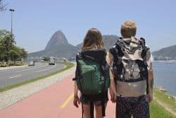 Backpaker in Rio de Janeiro