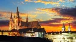Abenddämmerung über Prag