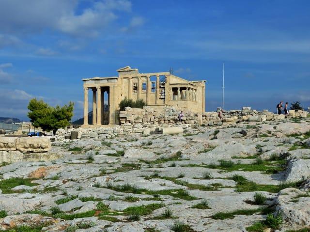 Auf der Akropolis in Athen