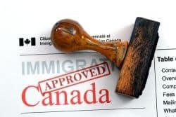 Einreisestempel für Kanada