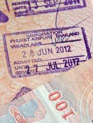 Einreisestempel für Thailand