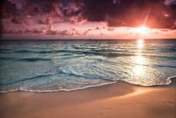 Toller Sonnenuntergang am Strand