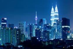 Kuala Lumpur in der Nacht
