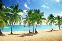 Strand auf der Insel La Romana