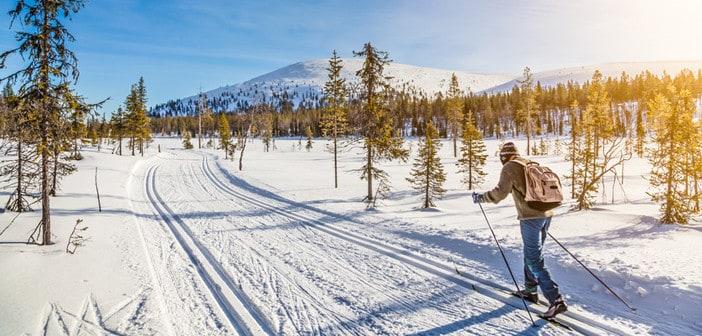Ski fahren in Norwegen im Winter