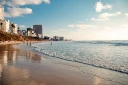 Schöner Strand in Israel