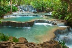 Beeindruckender Fluss in Laos