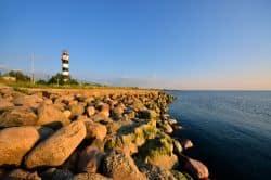 Schöne Ostseeküste in Lettland