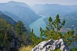 Schöne Landschaft in Serbien