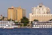 Blick auf Assuan in Ägypten