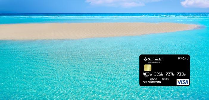 Santander Kreditkarte am Strand