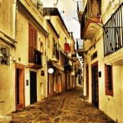 Kleine Gasse auf Ibiza