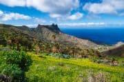 Blick auf grünes Tal auf La Gomera