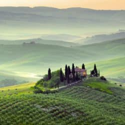 Wunderschöne Landschaft in Italien