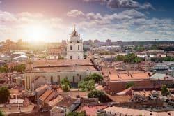 Blick über die Altstadt von Vilnius