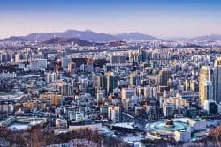 Blick über Seoul