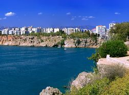 Schöne Küste der Türkei
