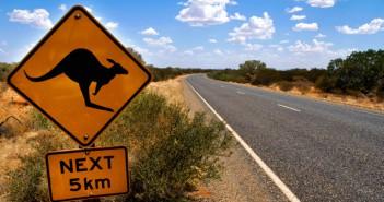 Känguru Schild in Australien