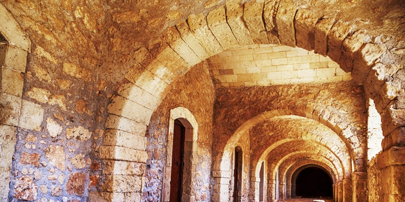 Gänge im Arkadi Kloster