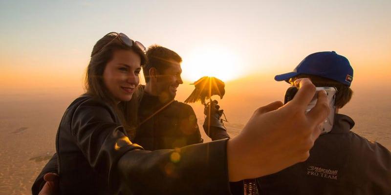 Ballonfahrt zum Sonnenaufgang