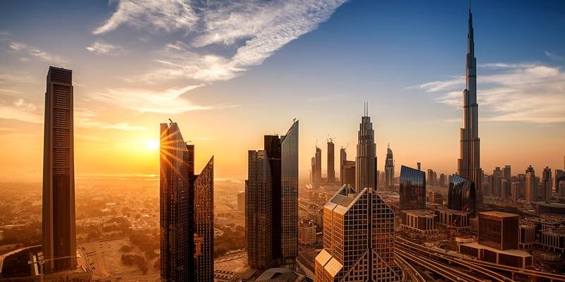 Burj Khalifa Sonnenaufgang