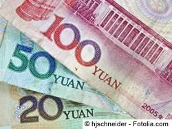 Chinesische Yuan - Geld in China