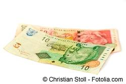 Euro in Rand tauschen