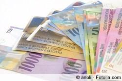 Schweizer Franken abheben