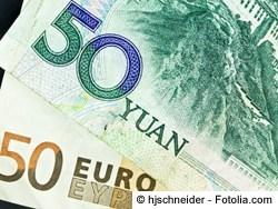 Euro in chinesische Yuan wechseln