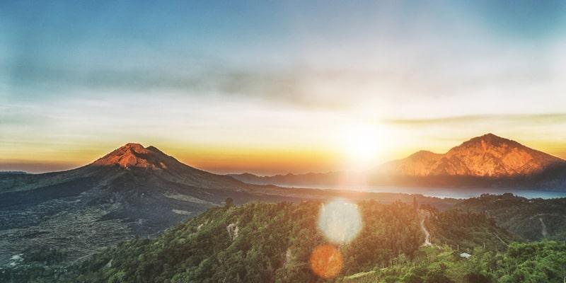 Gunung Batur und Gunung Agung
