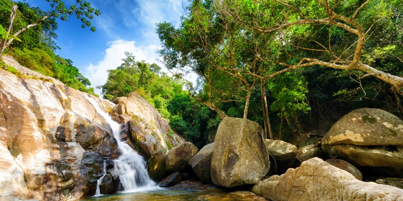Wasserfälle Hin Lad und Na Muang