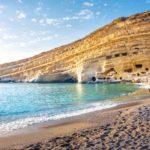 Höhlen am Strand auf Kreta