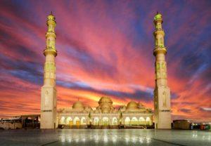 Moschee in der Dämmerung