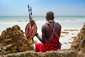 Masai am Strand