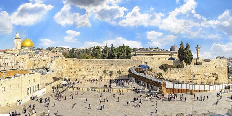 Der Tempelberg und die Klagemauer