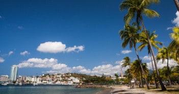 Karibik-Insel Martinique mit Blick auf Fort de France