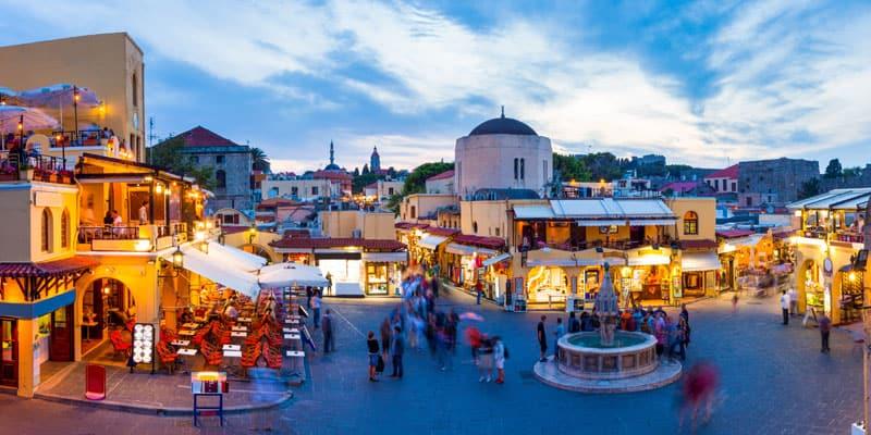 Nachtleben in Rhodos Stadt