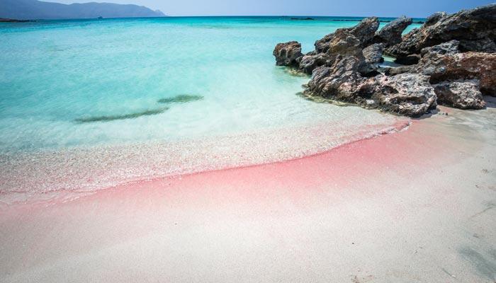 Pink Sand Beach auf Kreta