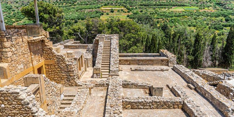 Ruinen am Palast von Knossos