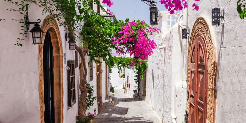 Straße in Lindos