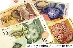 Südafrikanische Rand - Währung in Südafrika